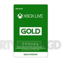 Klucze i karty pre-paid, Subskrypcja Xbox Live Gold (6 m-ce) [kod aktywacyjny]