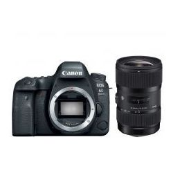 Canon EOS 6D Mark II Sigma 18-35mm f1.8 ART DC HSM+ GRIP Canon BG-E21 lub statyw Manfrotto MKBFRLA4BK-BH z głowicą + Zwrot od Canon do 3440zł