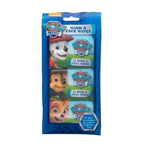 Chusteczki dla niemowląt, Nickelodeon Paw Patrol Hand & Face Wipes chusteczki oczyszczające 30 szt dla dzieci