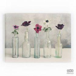 Obraz Kwiaty w szklanych wazonach 40-619