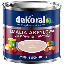 FARBA AKRYLUX KOLOR CAFE LATTE EMALIA AKRYLOWA DO DREWNA I METALU JEDWABISTY POŁYSK 0,5L FIRMY DEKORAL