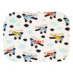 Pieluszka tetrowa, wielorazowa, kolorowa we wzorki Samoloty 100% bawełna Ega