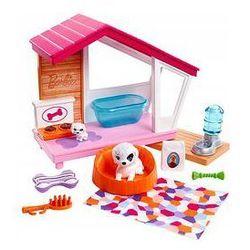 Barbie Mebelki do domku - wyposażenie Mattel (buda dla psa + figurka)