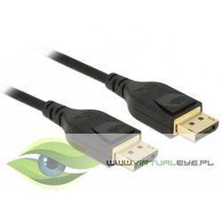 Delock Kabel Displayport -> Displayport 8K 5m czarny