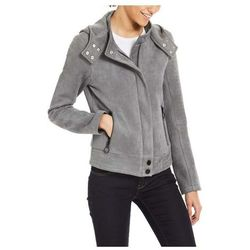 bluza BENCH - Alcantara Biker Jacket Dark Grey (GY149)