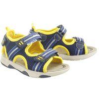 Sandały dziecięce, GEOX B920FA SAND.MULTY 01415 C0657 navy/yellow, sandały dziecięce, rozmiary: 24-27