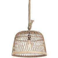 Lampy sufitowe, Rustykalna lampa wisząca rattan - Calamus