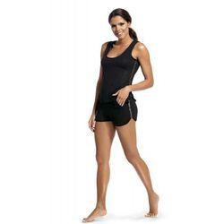 Piżama damska z krótkimi szortami Hamana Argo czarny