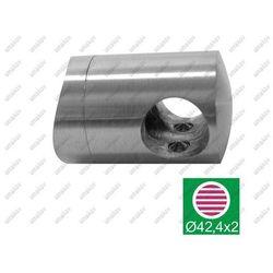 Uchwyt przelotowy złączny AISI316, D42,4/d10mm