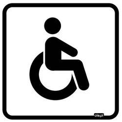 Naklejka informacyjna oznaczenie toalety WC dla niepełnosprawnych