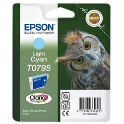 Epson oryginalny ink C13T079540, light cyan, 11,1ml, Epson Stylus Photo 1400