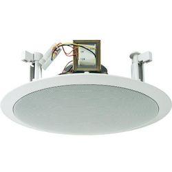Głośnik sufitowy PA do zabudowy Monacor EDL-28, 100 dB, 60 - 14 000 Hz, 100 V, Kolor: biały, 1 szt.