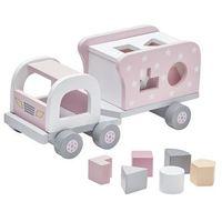 Zabawki z drewna, Kids Concept Klocki Drewniane Samochód Pin