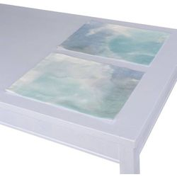 Dekoria Podkładka 2 sztuki, niebieski w różnych odcieniach, 30x40 cm, Aquarelle