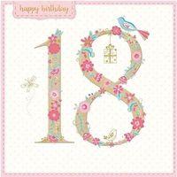 Pozostałe artykuły szkolne, Karnet kwadrat z kopertą Urodziny 18