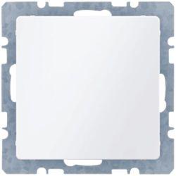 BERKER Q.1 Zaślepka z płytką czołową, bez pazurków rozporowych, biały, aksamit 10096089
