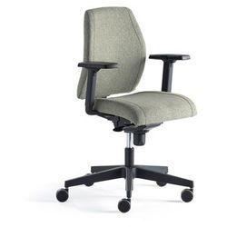 Krzesło biurowe LANCASTER, niskie oparcie, zielononiebieski