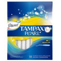 Tampax Discreet Pearl Regular Tampony z aplikatorem 18 sztuk