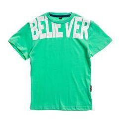 T-shirt chłopięcy z nadrukiem zielony Denley T3300