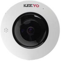 Kamery przemysłowe, Kamera FISHEYE sieciowa IP bezprzewodowa KEEYO LV-IP4M2FE-II 4Mpx IR 25m 180 stopni Fisheye