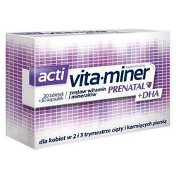 Acti Vita-miner Prenatal + DHA x 30 tabletek + 30 kapsułek