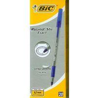 Długopisy, Długopis Round Stic Exact niebieski (20szt) BIC