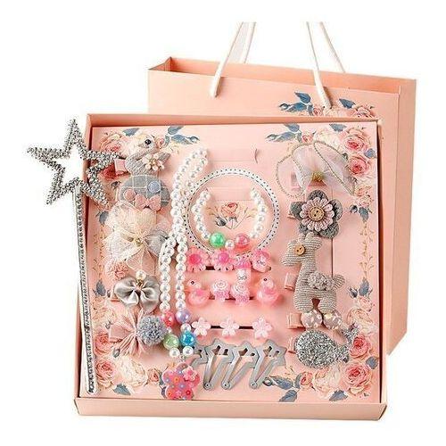 Pozostała biżuteria, Zestaw dla dziewczynki na prezent spinki gumki