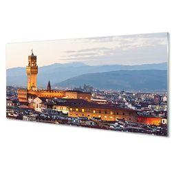 Panel Szklany Włochy Zamek panorama zachód słońca