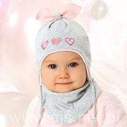 Komplet ajs 40-006 czapka+chustka rozmiar: 40-42cm, kolor: wielokolorowy, ajs
