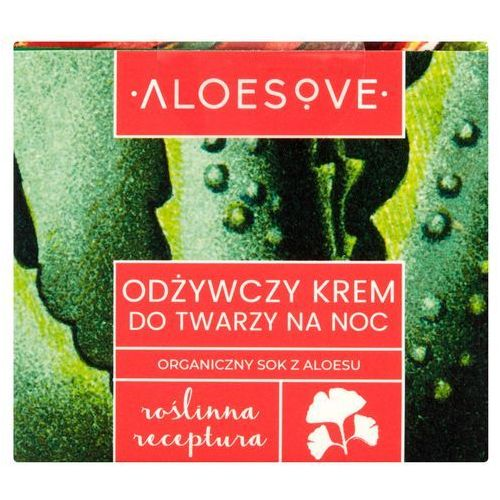 Balsamy, smakeup.pl ALOESOVE Krem na noc odżywczy do twarzy 50ml