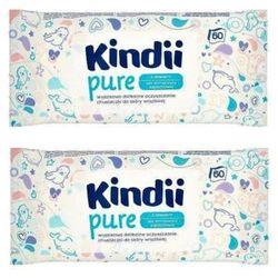 Zestaw 1+1 Gratis KINDII 60szt Pure Chusteczki nawilżane dla dzieci i niemowląt