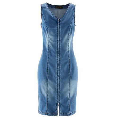 """Suknie i sukienki, Sukienka dżinsowa z zamkiem bonprix niebieski """"stone"""""""