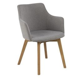 Fotel z podłokietnikami Melfis - szary