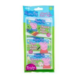 Peppa Pig Peppa Hand & Face Wipes chusteczki oczyszczające 30 szt dla dzieci