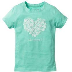 Shirt z koronkowym nadrukiem bonprix niebieski mentolowy