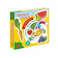 Pozostałe zabawki dla najmłodszych, Gra Magnesiaki warzywa i owoce