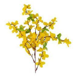 Sztuczna gałązka FORSYCJA żółta 55 cm