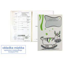 Okładka etui na książeczkę zdrowia dziecka, PVC - 4-krówka na biegunach