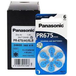 60 x baterie do aparatów słuchowych Panasonic 675 / PR675 / PR44