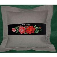 Poszewki, Poszewka na poduszkę (na jasiek) z haftem łowickim (zcz-2)