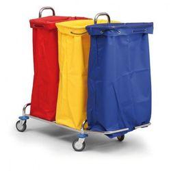 Wózek na bieliznę lub odpady segregowane, 3 worki