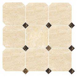 DUNIN mozaika kamienna Travertine Octagon 100