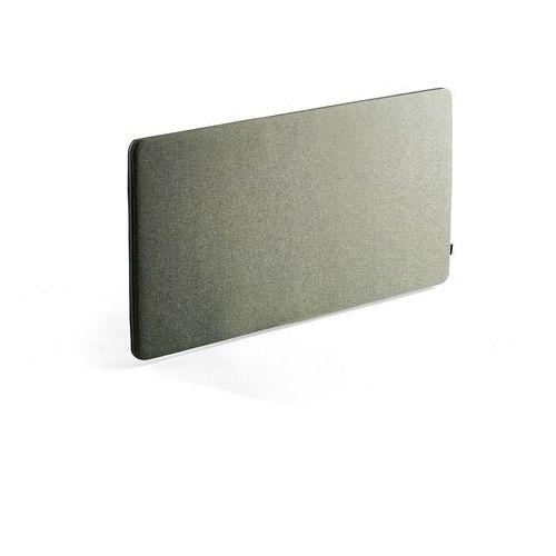 Pozostałe meble biurowe, Panel dźwiękochłonny ZIP RIVET, 1400x650 mm, zielononiebieski, czarny suwak