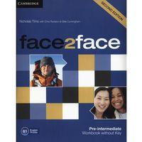 Książki do nauki języka, face2face Second Edition, Pre-intermediate, Workbook (zeszyt ćwiczeń) without Answer Key (opr. miękka)
