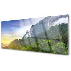 Panel Szklany Zamek w Górach Las Krajobraz
