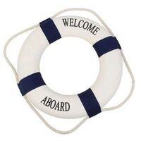 Kamizelki i pasy ratunkowe, Koło ratunkowe niebieskie pasy, dekoracja Life buoy blue, S 15 cm