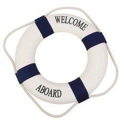 Koło ratunkowe niebieskie pasy, dekoracja Life buoy blue, S 15 cm