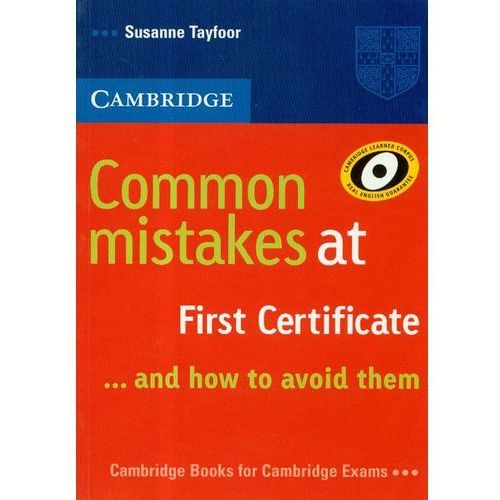 Książki do nauki języka, Cambridge Common Mistakes At First Certificate (opr. miękka)