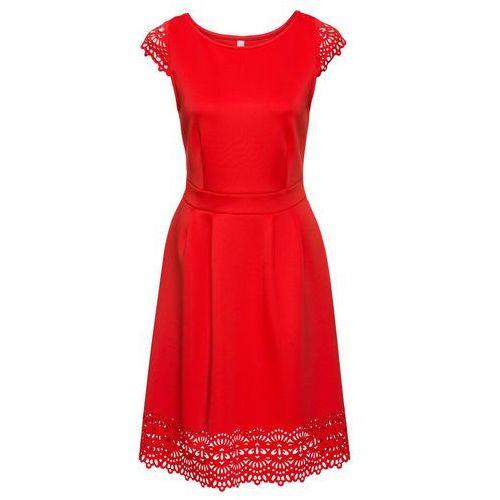 Suknie i sukienki, Sukienka z wycięciami bonprix jasnoczerwony