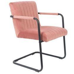 Dutchbone Fotel STITCHED velvet różowy 1200184